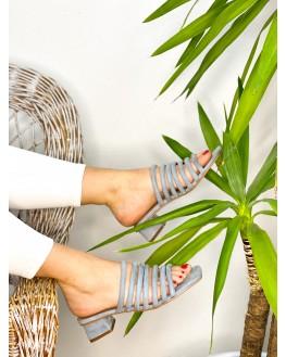 sandalia tiras azul portada